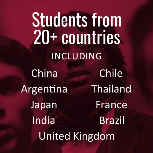 Students from more than 20 countries attend BW