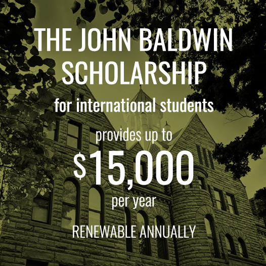 John Baldwin Scholarship for international students