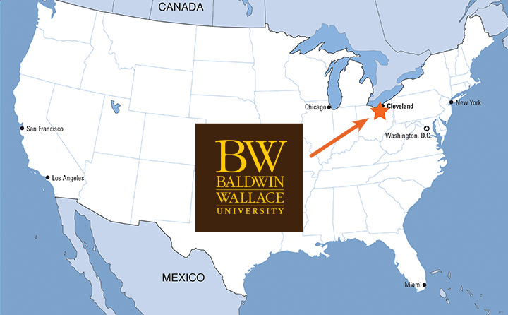 BW on U.S. map