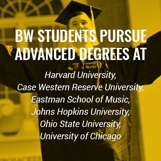 BW students pursue advanced degrees