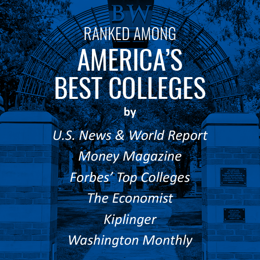 BW is ranked among America's top colleges