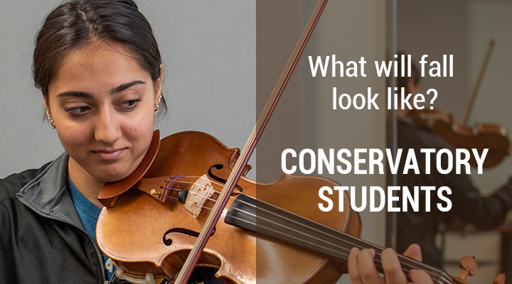 banner image: Conservatory Students