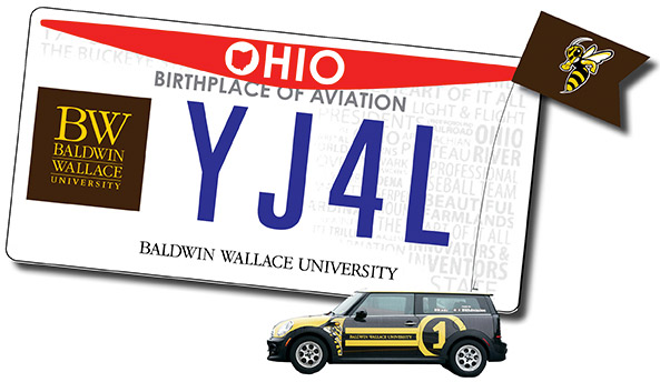 BW License Plate