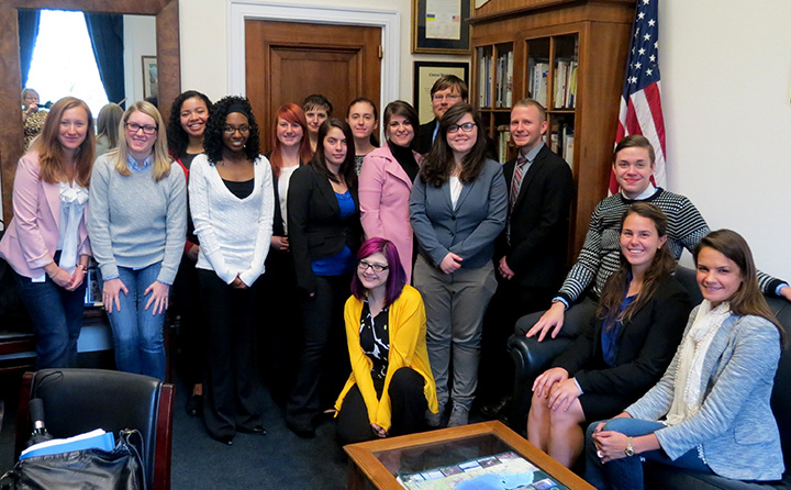 photo: BW students visit Marcy Kaptur's office