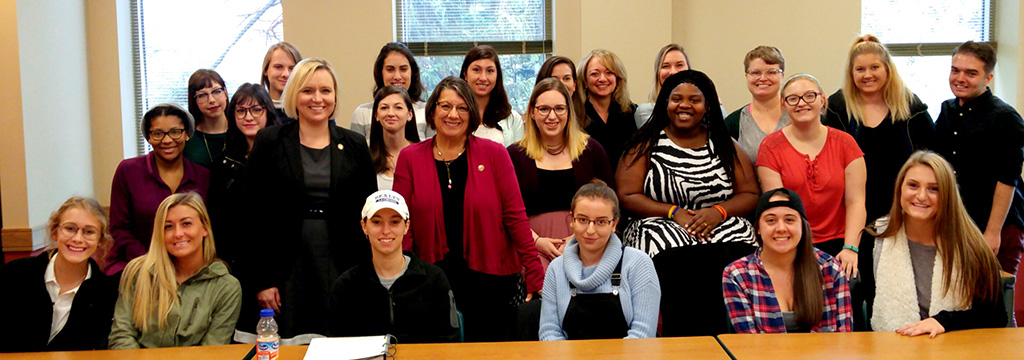 BW students met with Judge Deanna O'Donnell and State Representatives Nickie Antonio and Sarah LaTourette.