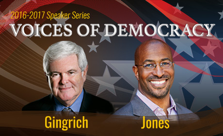 Voices of Democracy: Newt Gingrich and Van Jones