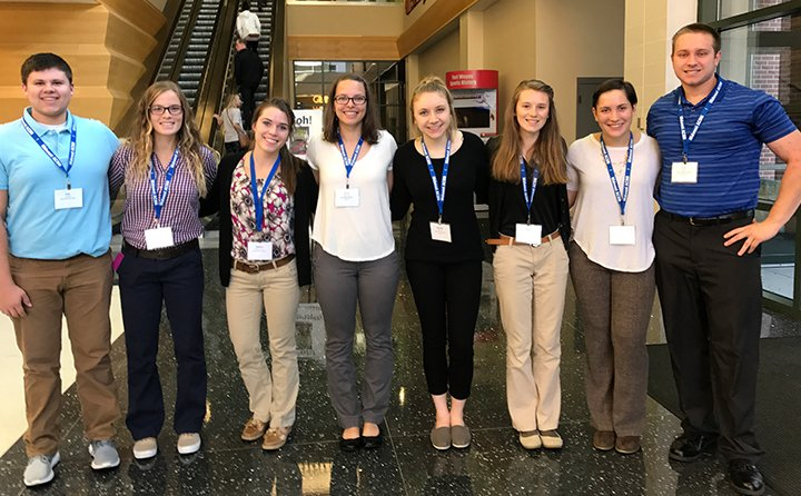 BW exercise science students attend the Midwest American College of Sports Medicine Conference