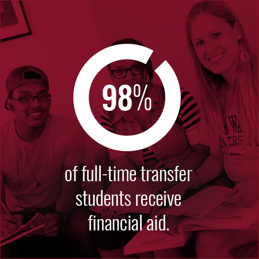 98 percent of full-time transfer students received financial aid in 2015-16