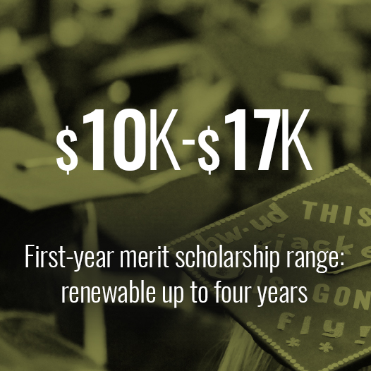 $10-17k is the first-year merit scholarship range