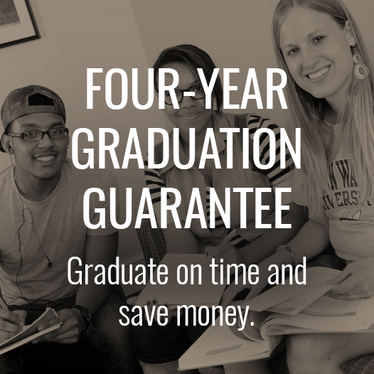 Powerblock: Four-Year Graduation Guarantee. Graduate on time and save money.