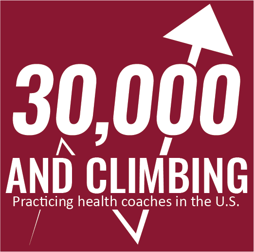 30,000 and climbing practicing health coaches in the U.S.