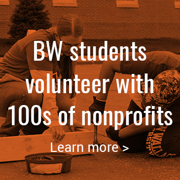 BW students volunteer with 100s of nonprofits: Click to learn more