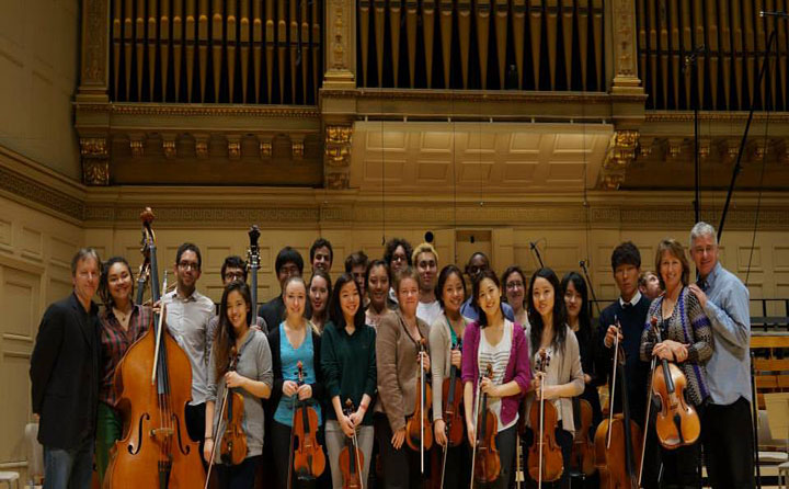 Photo of Deborah Barrett Price with CMC at Boston Symphony Hall
