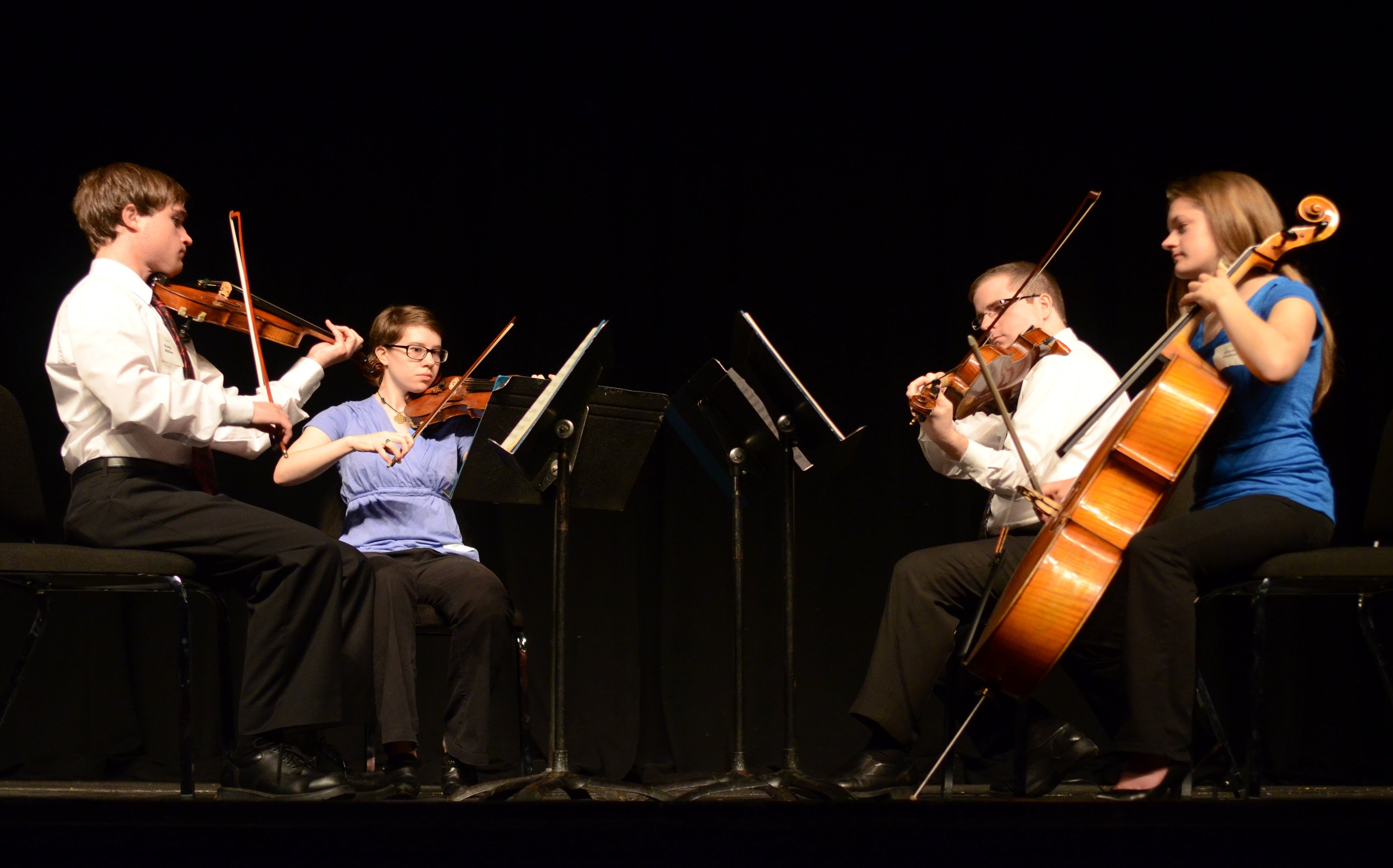 string quartet performs