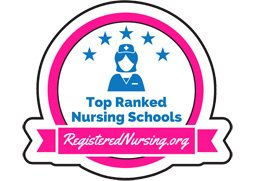 Top-ranked RN program badge