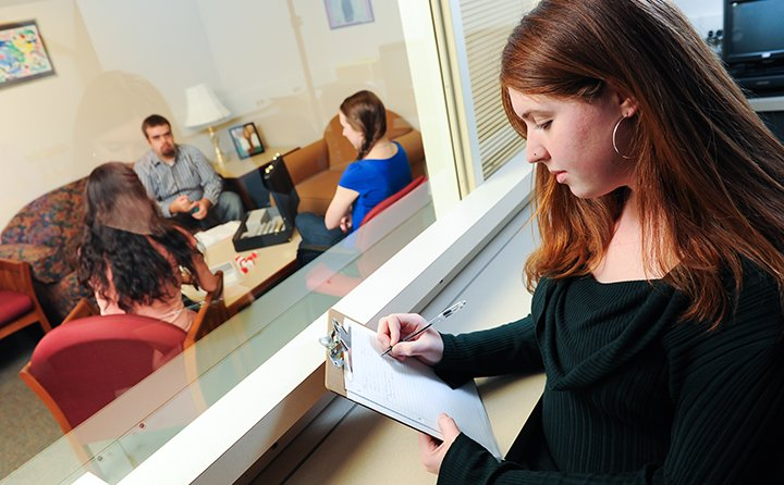 Psychology students in the BW Center for Psychological Science