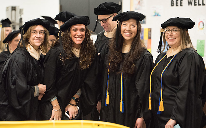 photo of School of Business graduates at commencement