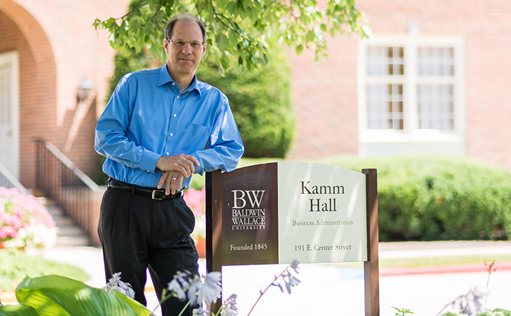 Photo of Frank Braun in front of Kamm Hall