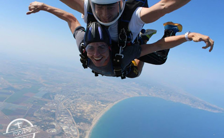 Skydiving Over Israel