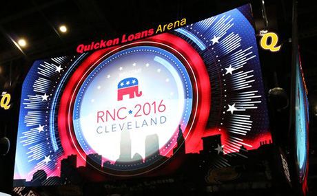 RNC Cleveland arena sign
