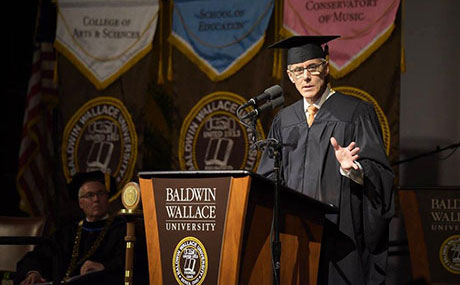 Vice Admiral Peter Neffenger addresses spring 2016 BW graduates