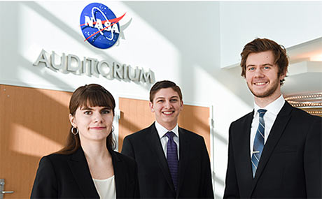 Photo of BW students at NASA