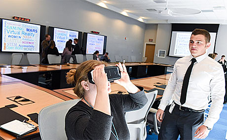 Photo of person engaged in virtual reality