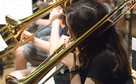 Band campers at BW Community Music School
