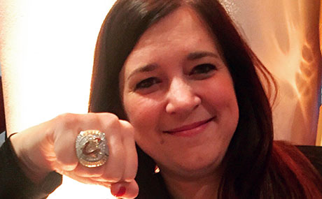 Kerry Woloszynek with her championship ring