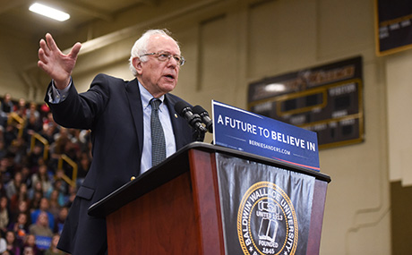 Sen Bernie Sanders speaks at BW