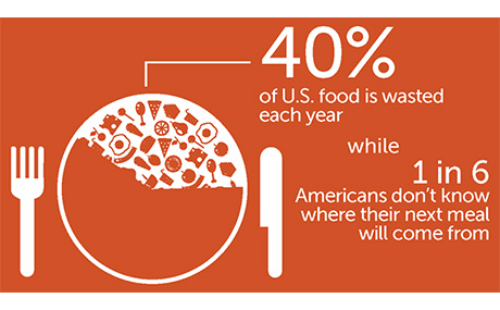 40 percent of U.S. food is wasted, while one in six Americans don't where their next meal will come from