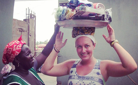 Public Health Major Mary McHale in Africa