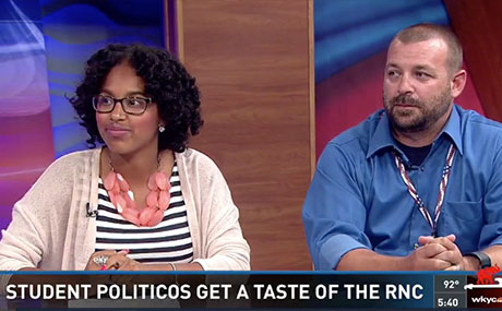 Students Eric Milligan and Simone Malone interviewed on their RNC experiences on WKYC