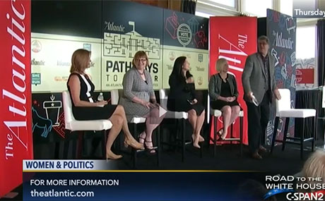 Dr. Barb Palmer -2nd from left - on the Atlantic-C-SPAN panel