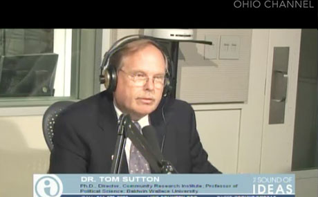 Dr. Tom Sutton appears on WCPN-NPR radio's The Sound of Ideas