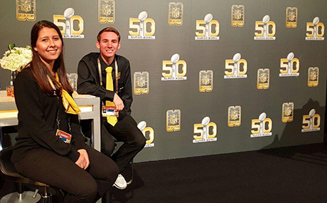 BW students work vip guest relations at Super Bowl 50