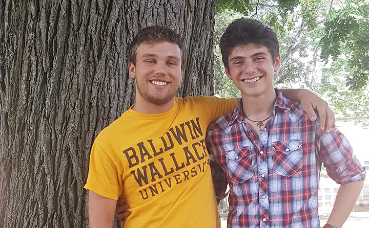 Zack Sluzala (left) and William Anastasiadis interned with a distinctive Cleveland Clinic summer program that is also part of an NIH-funded ADHD study.