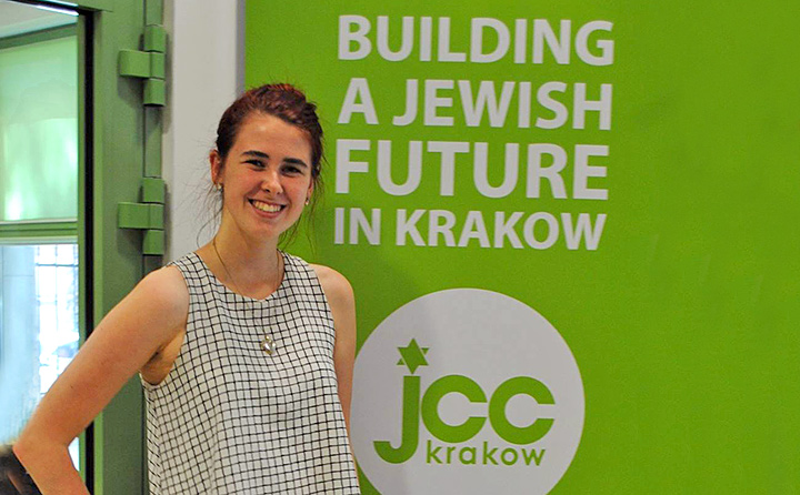 Photo of BW student Klementyna Pozniak at Jewish Community Centre of Krakow