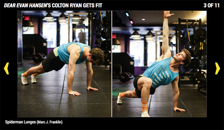 Playbill Magazine details the Broadway-worthy workout of BW grad Colton Ryan