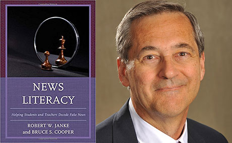 News Literacy book cover and author Dr. Robert Janke