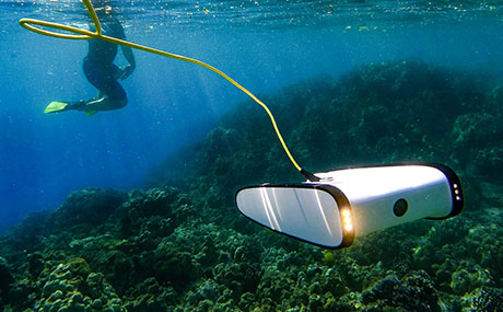 Photo of OpenROV Trident submersible drone