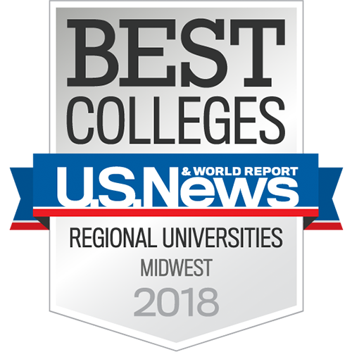 U.S. News & World Report Best Colleges Regional Universities Midwest 2018 Badge