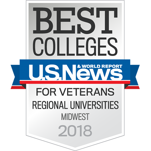 U.S. News & World Report Best Colleges for Veterans Regional Universities Midwest 2018 Badge