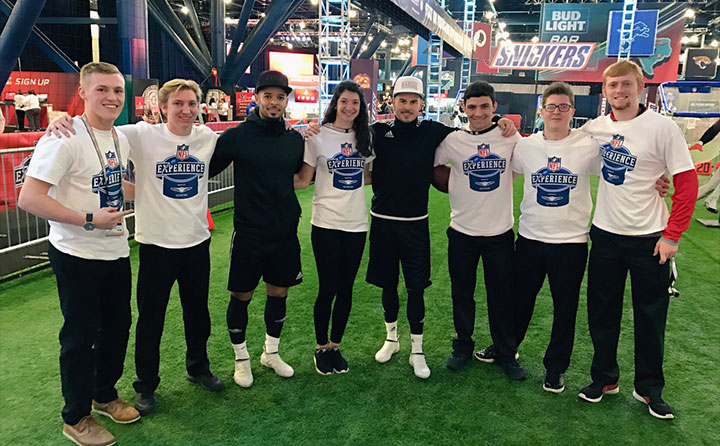 BW sport management majors work The NFL Experience for Super Bowl LI