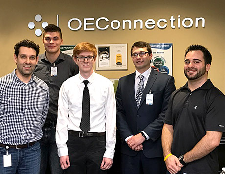 Photo of BW shadow students and OEConnection employees