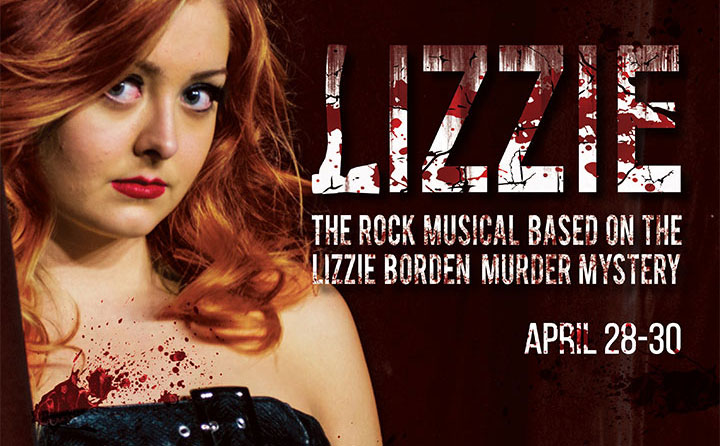 Poster promoting the return of the rock musical Lizzie to Playhouse Square