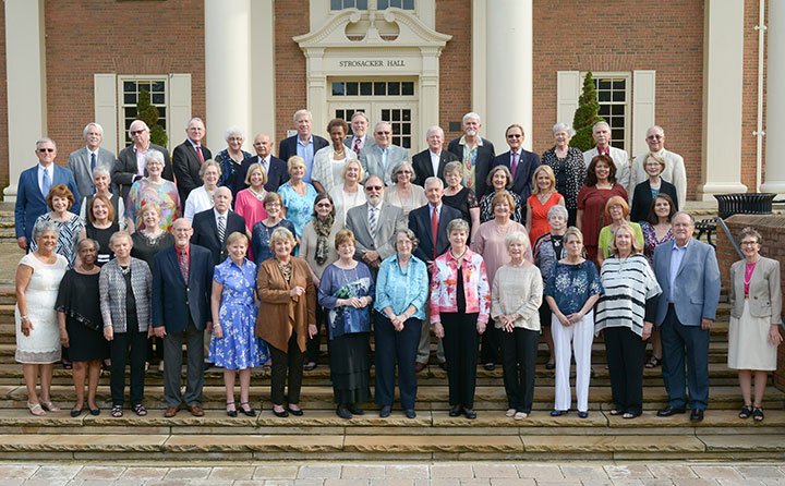 Members of the Baldwin Wallace University Class of 1967 at their golden reunion