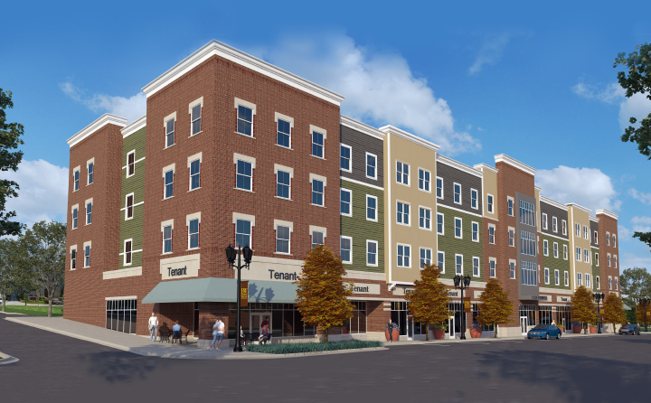 An artist's rendering of the Front Street project in Berea, Ohio