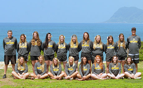 Swogger is part of the Yellow Jacket softball team that traveled to Hawaii in 2017
