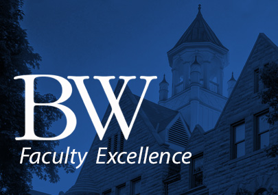 Graphic with words saying BW Welcomes New Faculty